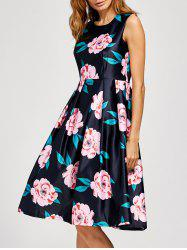Floral Fit And Flare Midi Dress -