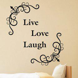 Live Love Laugh Removeable Wall Sticker