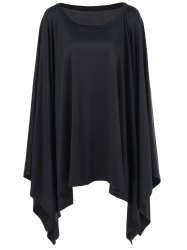 Batwing Sleeve Asymmetrical Dress -