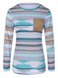 Single Pocket Tribal Tee - CLOUDY XL