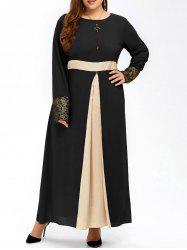 Muslim Color Block Maxi Dress