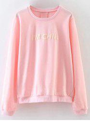 Chill Letter Loose Fitting Sweatshirt -
