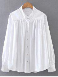 Ruched Loose Swing Shirt