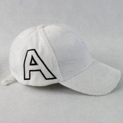 Warm Letter A Embroidery Plush Baseball Hat - WHITE