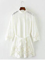 Lace Hollow Out Mini Dress -