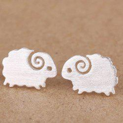 Lamb Stud Earrings - SILVER