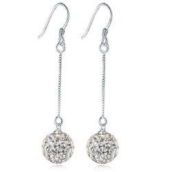 Rhinestone Ball Drop Earrings