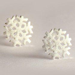 Christmas Snowflake Stud Earrings - SILVER