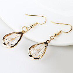 Faux Crystal Water Drop Hook Earrings -