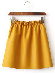 Faux Leather Fleece Lined A Line Skirt -