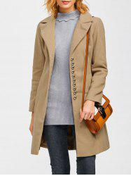 Single Breasted Casual Woolen Coat -