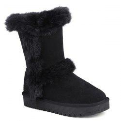 Mid Calf Furry Snow Boots