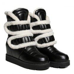 Hidden Wedge Platform Fuzzy Boots
