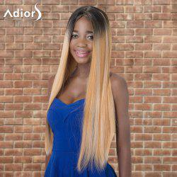 Adiors Long Straight Ombre Middle Parting Synthetic Wig