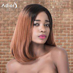 Adiors Medium Natural Straight Ombre Side Parting Synthetic Wig