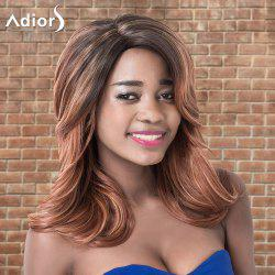 Adiors Medium Layered Wavy Ombre Side Parting Synthetic Wig