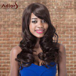 Adiors Long Shaggy Wavy Side Bang Synthetic Wig