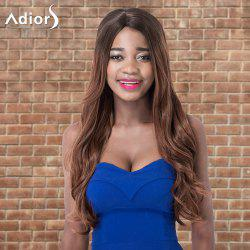Adiors Long Shaggy Wavy Side Parting Colormix Synthetic Wig -