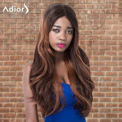 Adiors Long Shaggy Wavy Centre Parting Highlight Synthetic Wig