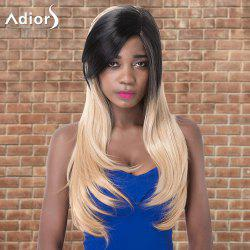 Adiors Long Side Parting Straight Tail Adduction Colormix Synthetic Wig -