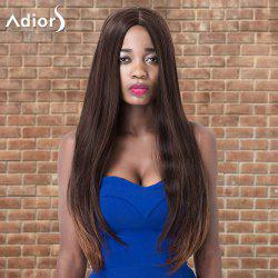 Adiors Long Centre Parting Straight Colormix Synthetic Wig -
