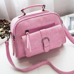 Buckle PU Leather Handbag