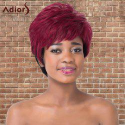 Adiors Short Full Bang Fluffy Mixed Color Straight Synthetic Wig
