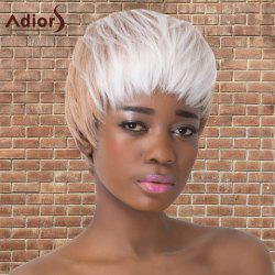 Adiors Short Neat Bang Double Color Straight Synthetic Wig