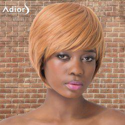 Adiors Short Shaggy Full Bang Straight Synthetic Wig