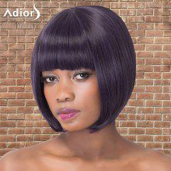 Short Bob Haircut Full Bang Straight Synthetic Adiors Wig