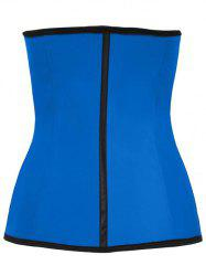 Color Block Underbust Steel Boned Corset - BLUE