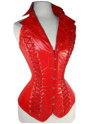 Lace-Up Leather Corset -