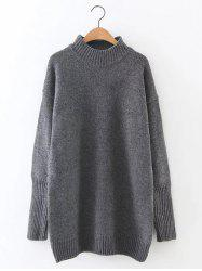 Loose Mock Neck Long Sweater