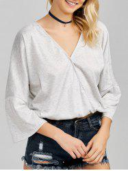 Flare Sleeve Wrap T-Shirt