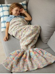 Handmade Crochet Sleeping Bag Wrap Mermaid Blanket -