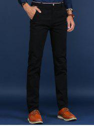Trimmed Mid Rise Skinny Chino Pants -