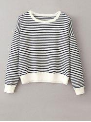 Round Neck Jumper Striped Sweater