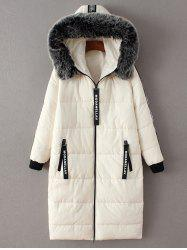 Hooded Number Padded Coat -