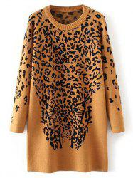 Long Leopard Sweater -