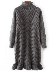 Chunky Pullover Long Sweater