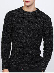 Crew Neck Texture Lurex Sweater