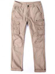 Multi Pocket Zipper Fly Loose Cargo Pants