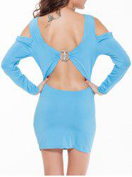 Cold Shoulder Backless Bodycon Party Dress -