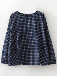 Plaid Graphic Blouse -