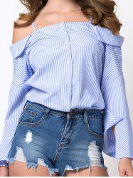 Cami Cold Shoulder Striped Blouse