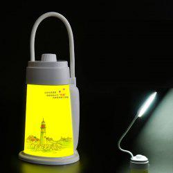 Multifunctional USB Charging Portable Outdoor LED Lighthouse Night Light - WHITE
