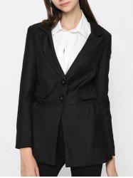 Two Button Classic Long Blazer -