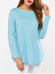 Arc Shaped Hem T-Shirt