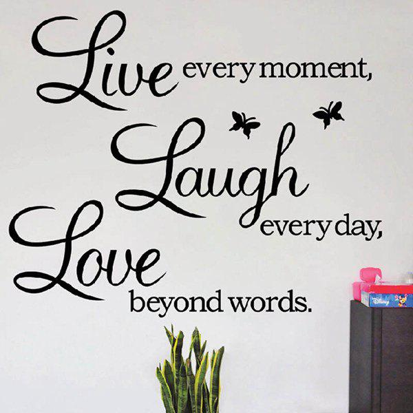 Art Life Removeable Wall StickerHOME<br><br>Color: BLACK; Wall Sticker Type: Plane Wall Stickers; Functions: Decorative Wall Stickers; Theme: Words/Quotes; Material: PVC; Feature: Removable,Washable; Size(L*W)(CM): 70*25; Weight: 0.1600kg; Package Contents: 1 x Wall Sticker;