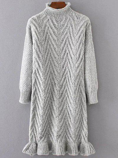 Chunky Pull Pull Long Gris Clair Taille Unique